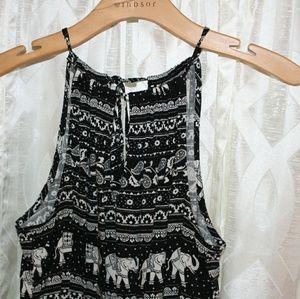 Elephant printed jumpsuit
